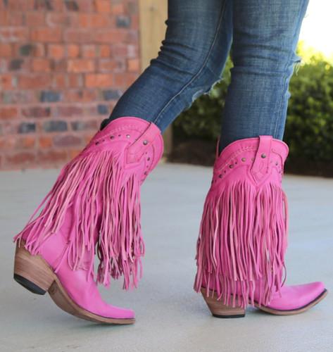 Liberty Black Vegas Fringe Boots Lipstick LB71124 Walk