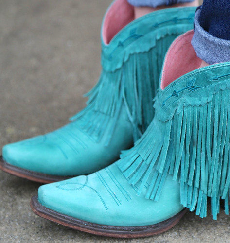 Junk Gypsy by Lane Spitfire Turquoise Boots JG0007D Toe