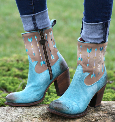 Junk Gypsy by Lane Wanderlust Turquoise Boots JG0011B Image