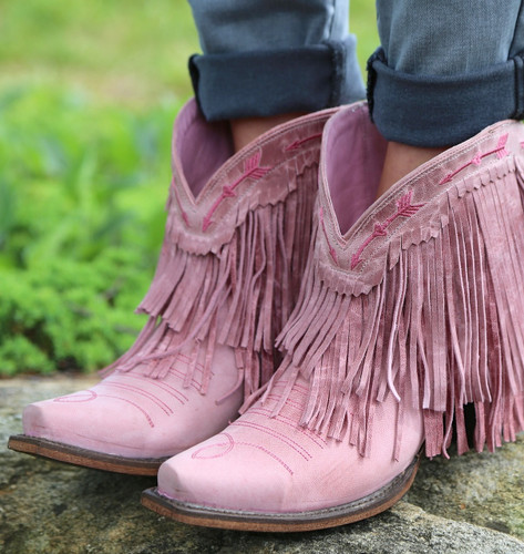 Junk Gypsy by Lane Spitfire Rose Pink Boots JG0007G Toe
