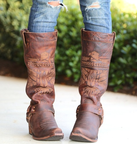 Junk Gypsy by Lane She Who Is Brave Boots JG0006C Front
