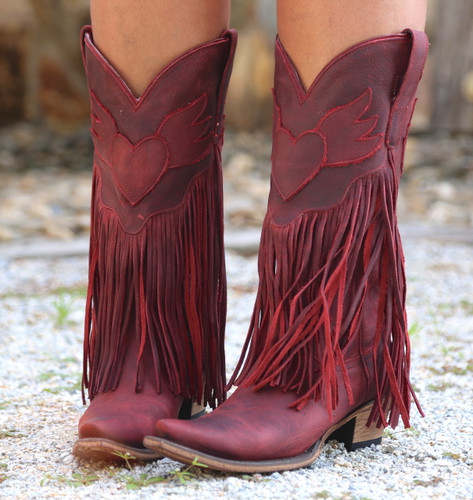 Junk Gypsy by Lane Dreamer Red Boots JG0004E Heart