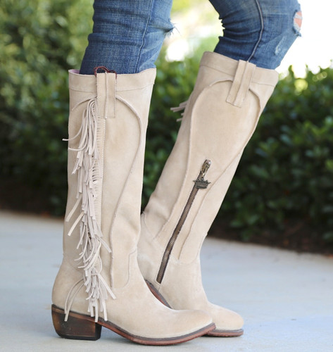 Junk Gypsy by Lane Texas Tumbleweed Bone Boots JG0009D Side