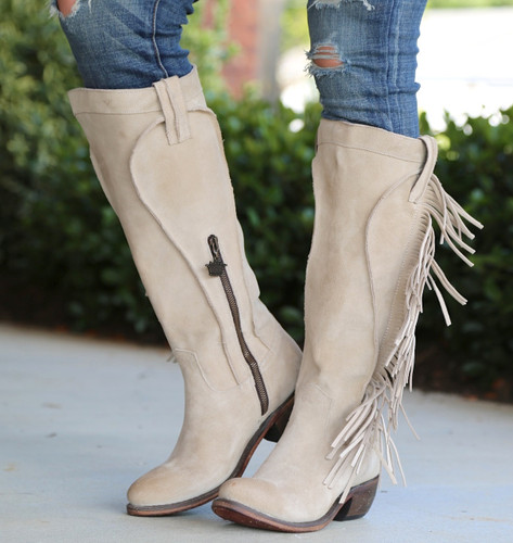 Junk Gypsy by Lane Texas Tumbleweed Bone Boots JG0009D Image