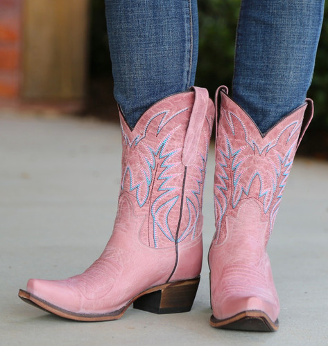 Junk Gypsy by Lane Dirt Road Dreamer Pink Boots JG0003F Front