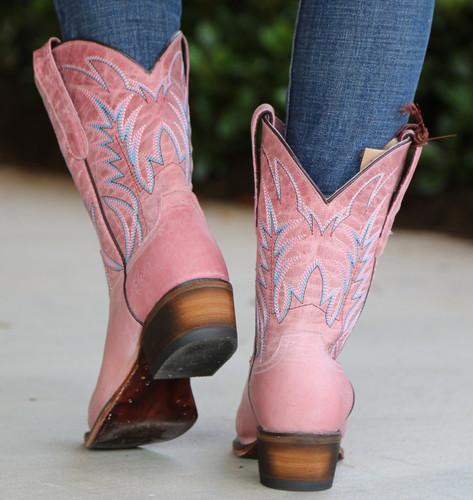 Junk Gypsy by Lane Dirt Road Dreamer Pink Boots JG0003F Heel
