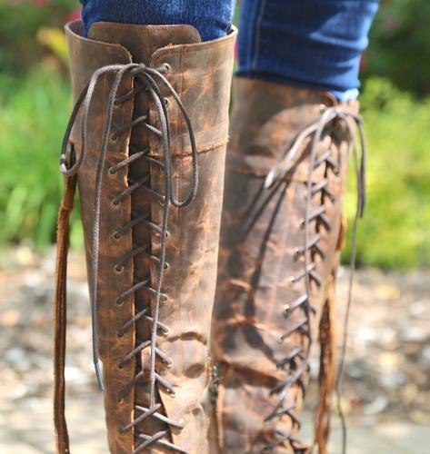Junk Gypsy by Lane Trailblazer Brick-Toned Boots JG0010C Collar