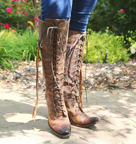 Junk Gypsy by Lane Trailblazer Brick-Toned Boots JG0010C Lace