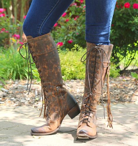 Junk Gypsy by Lane Trailblazer Brick-Toned Boots JG0010C Fringe