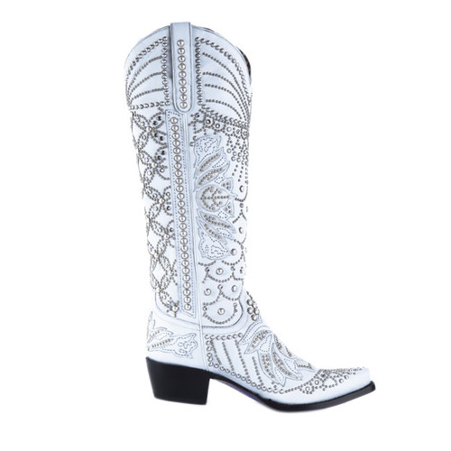 Kippys by Lane Boots Victoria Pearl White - KP0007A Side Picture