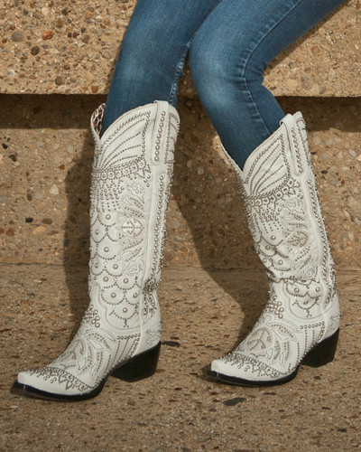 Kippys by Lane Boots Victoria Pearl White - KP0007A Live Image