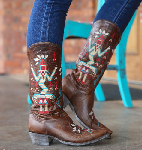 Old Gringo Sapache Brass Boots L2046-3 Side