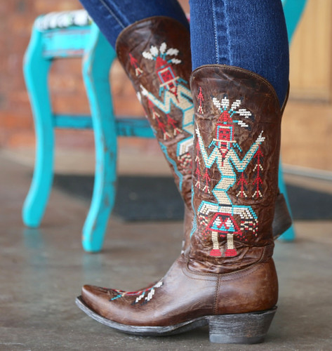 Old Gringo Sapache Brass Boots L2046-3 Picture