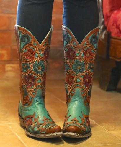 Old Gringo Abelina Turquoise Boots L2408-4 Image