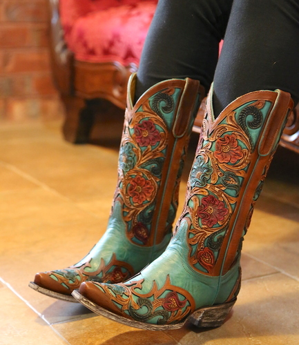 Old Gringo Abelina Turquoise Boots L2408-4 Picture
