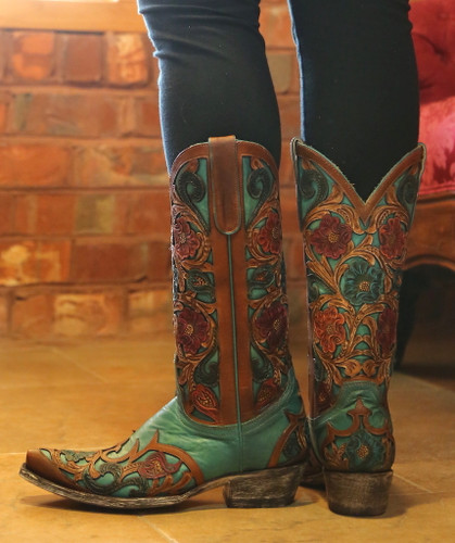 Old Gringo Abelina Turquoise Boots L2408-4 Heel