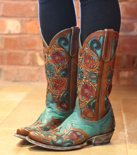 Old Gringo Abelina Turquoise Boots L2408-4 Side