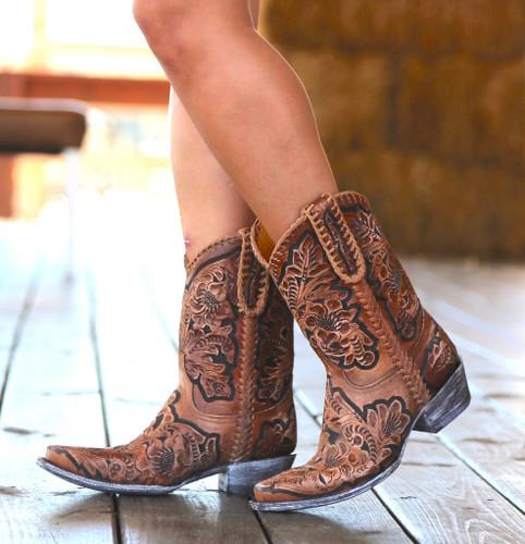 Old Gringo Flor De Chale Boots HTL003-31 Side