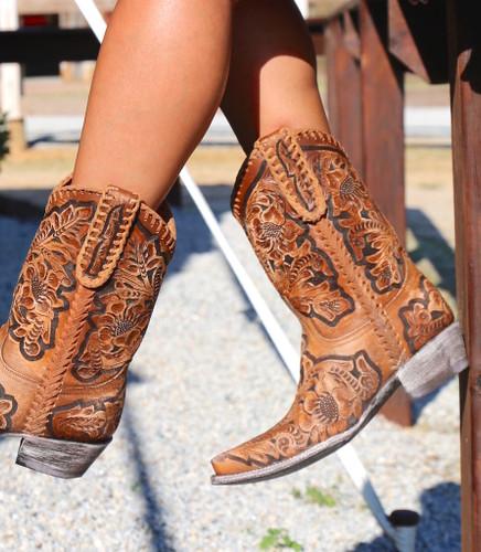 Old Gringo Flor De Chale Boots HTL003-31 Tooling