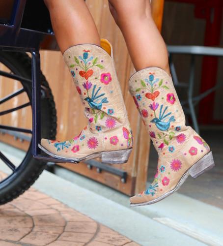 Old Gringo Pajaro Bone Boots L2476-4 Image