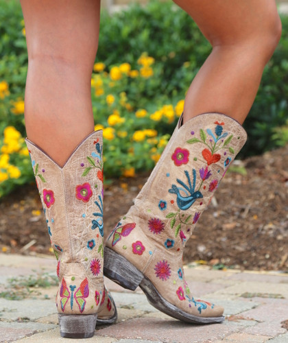Old Gringo Pajaro Bone Boots L2476-4 Heel