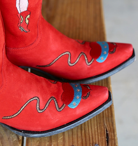 Old Gringo Cowgirl Guns Red L2458-2 Toe