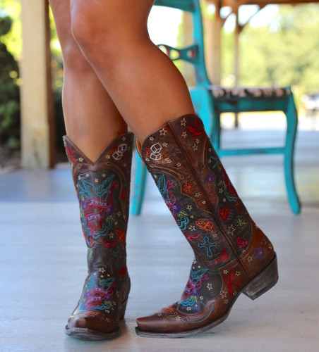 Old Gringo True Love Chocolate Boots L2467-1 Photo