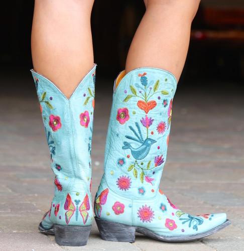 Old Gringo Pajaro Aqua Boots L2476-5 Heel