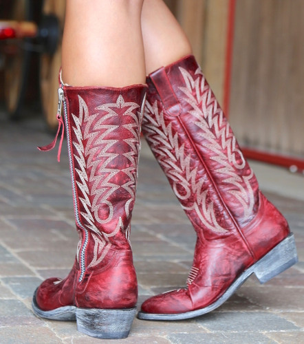 Old Gringo Razz Red Boots L340-117 Heel