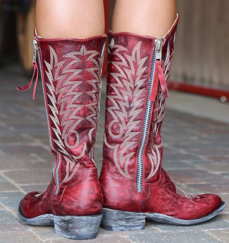 Old Gringo Razz Red Boots L340-117 Embroidery