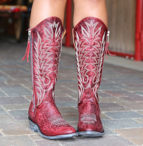 Old Gringo Razz Red Boots L340-117 Toe