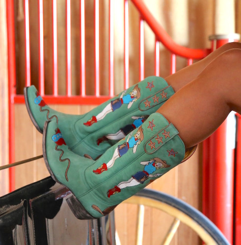Old Gringo Cowgirl Guns Turquoise Boots L2458-3 Image