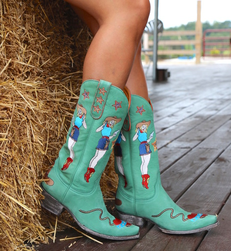 Old Gringo Cowgirl Guns Turquoise Boots L2458-3 Picture