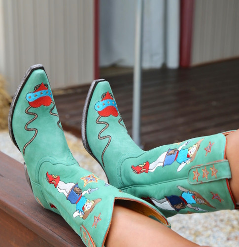 Old Gringo Cowgirl Guns Turquoise Boots L2458-3 Embroidery