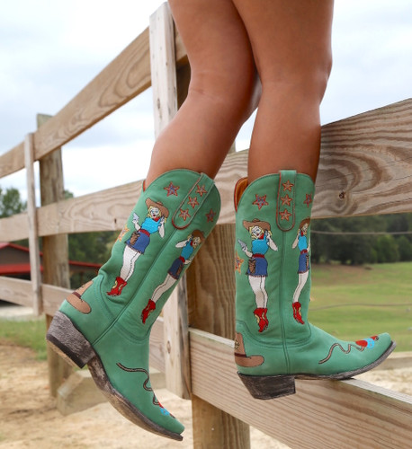 Old Gringo Cowgirl Guns Turquoise Boots L2458-3 Side