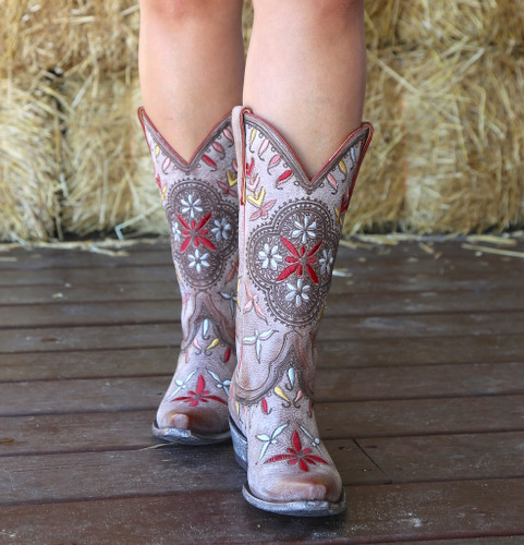 Old Gringo Namida Brown Boots L2629-2 Embroidery