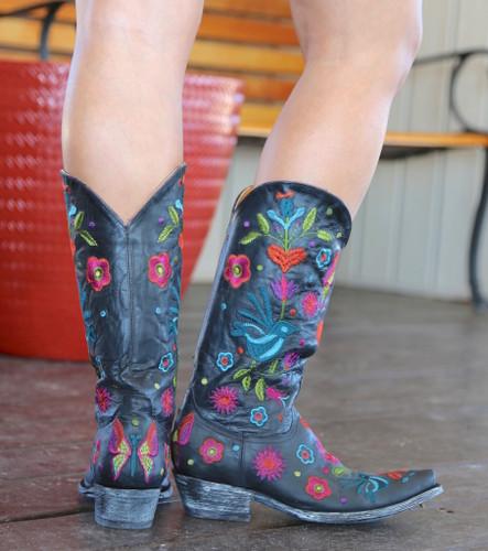 Old Gringo Pajaro Black Boots L2476-3 Back