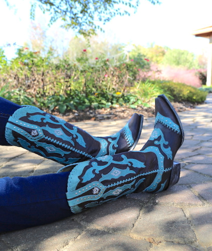 Yippee by Old Gringo Femi Aqua Chocolate Boots YL220-1 Picture