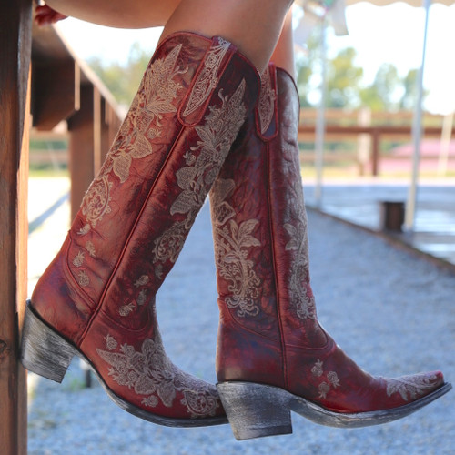 "Old Gringo Nicolette Red 15"" Boots L2310-3 Image"