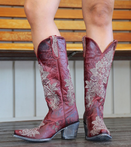 """Old Gringo Nicolette Red 15"""" Boots L2310-3 Photo"""