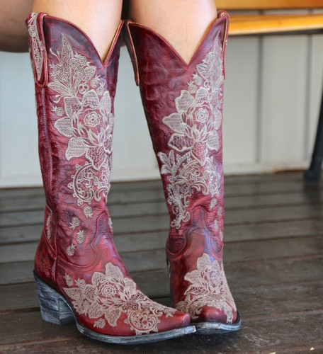 "Old Gringo Nicolette Red 15"" Boots L2310-3 Toe"