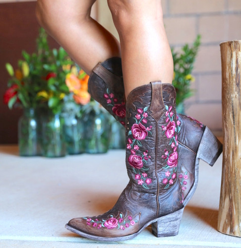 Old Gringo Martina Pink Chocolate Boots L2468-2 Picture