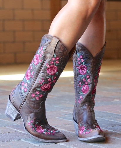 Old Gringo Martina Pink Chocolate Boots L2468-2 Toe