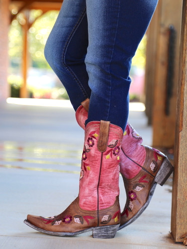 Old Gringo Onawa Oryx Pink Boots L2710-2 Side