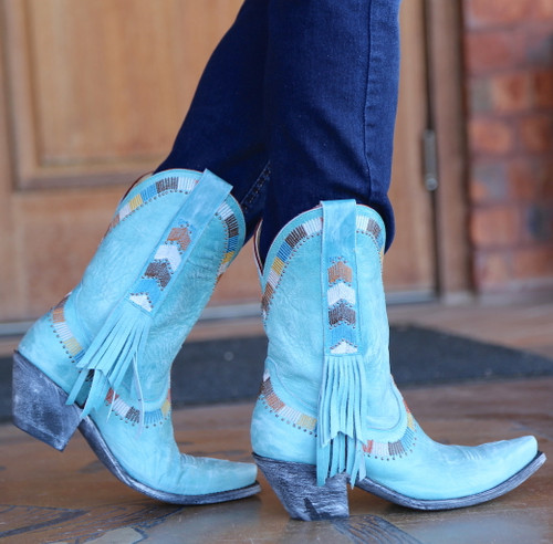 Yippee by Old Gringo Persefone Blue Boots YL230-2 Image