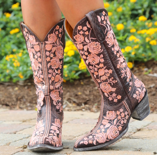 Old Gringo Sterling Chocolate Boots L1973-2 Embroidery
