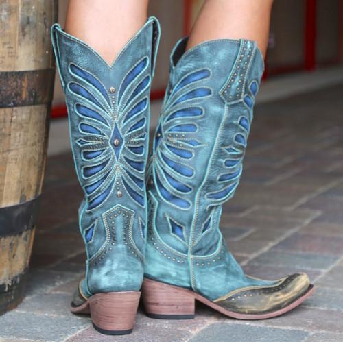 Liberty Black Tall Vintage Turqueza Boots LB711510 Heel