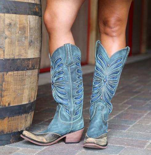 Liberty Black Tall Vintage Turqueza Boots LB711510 Front