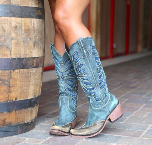 Liberty Black Tall Vintage Turqueza Boots LB711510 Image