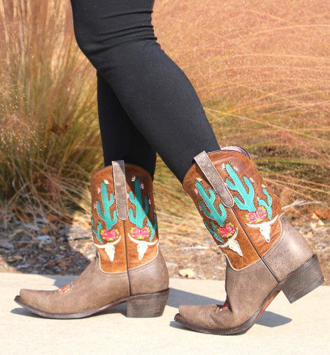Junk Gypsy by Lane Bramble Rose Boots with Caramel Shaft JG0015C Walk